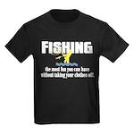 Fishing Fun Kids Dark T-Shirt