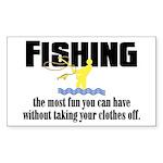 Fishing Fun Rectangle Sticker