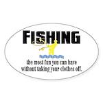 Fishing Fun Oval Sticker