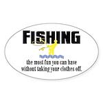Fishing Fun Oval Sticker (10 pk)