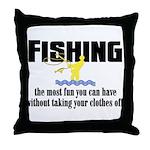 Fishing Fun Throw Pillow