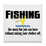 Fishing Fun Tile Coaster