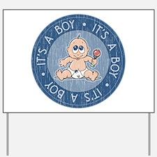 It's a Boy Blue Distressed Yard Sign
