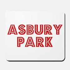 Retro Asbury Park (Red) Mousepad
