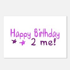 Happy Birthday 2 Me (Pink) Postcards (Package of 8