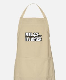 """""""Relax, I'm A Bartender"""" BBQ Apron"""