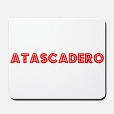 Retro Atascadero (Red) Mousepad