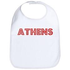 Retro Athens (Red) Bib