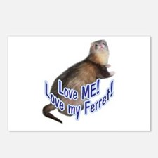 Love ME! Love My Ferret! Postcards (Package of 8)