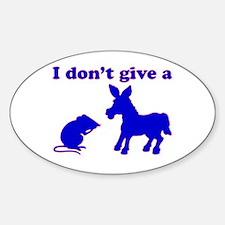 Rat's Ass Oval Bumper Stickers