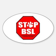STOP BSL Oval Decal