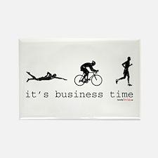It's Business Time Triathlon Rectangle Magnet (10