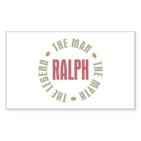 Ralph Man Myth Legend Rectangle Sticker