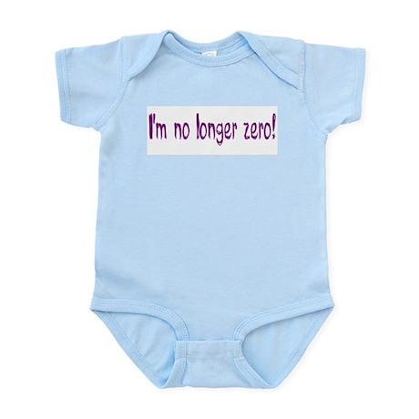 No Longer Zero (1st birthday) Infant Bodysuit