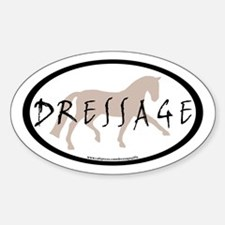 Trot Oval Brush Text (taupe) Oval Decal