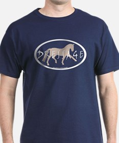 Trot Oval Brush Text (taupe) T-Shirt