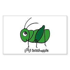 Little Grasshopper Rectangle Decal