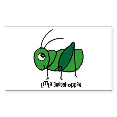 Little Grasshopper Rectangle Sticker