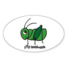 Little Grasshopper Oval Decal