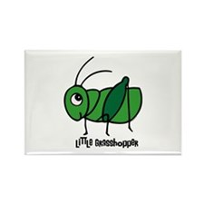 Little Grasshopper Rectangle Magnet