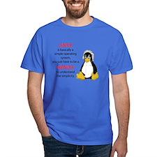 Linux Royal T-Shirt