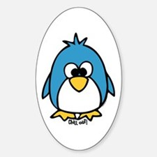 Chill Out Penguin Oval Decal