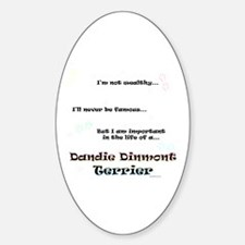 Dandie Dinmont Life Oval Decal