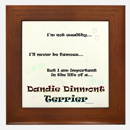 Dandie Dinmont Life Framed Tile