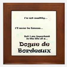 Dogue Life Framed Tile