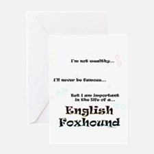 English Fox Life Greeting Card