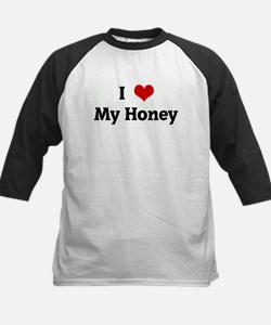 I Love My Honey Kids Baseball Jersey