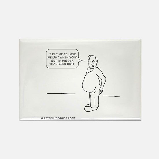 Funny Funny weight loss Rectangle Magnet