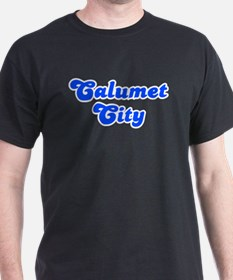 Retro Calumet City (Blue) T-Shirt