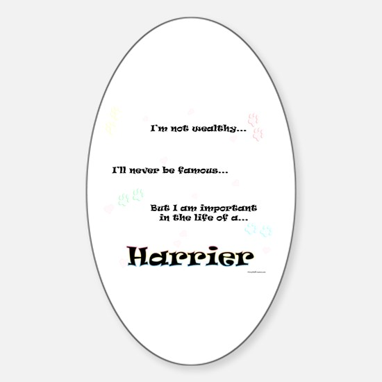 Harrier Life Oval Decal