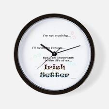 Irish Setter Life Wall Clock