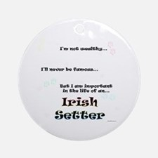 Irish Setter Life Ornament (Round)