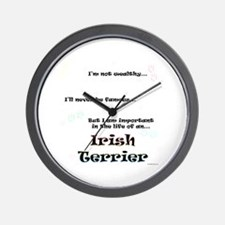 Irish Terrier Life Wall Clock