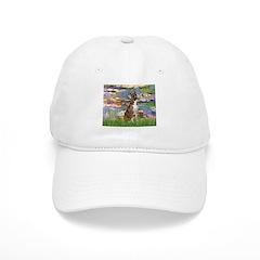 Lilies & Brindle Boxer Baseball Cap