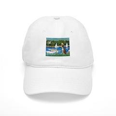 Sailboats & Boxer Baseball Cap