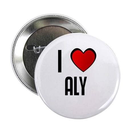 """I LOVE ALY 2.25"""" Button (10 pack)"""