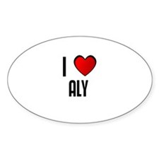 I LOVE ALY Oval Decal