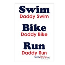 Triathlon Daddy Postcards (Package of 8)