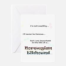 Elkhound Life Greeting Card