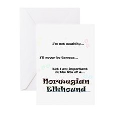 Elkhound Life Greeting Cards (Pk of 20)