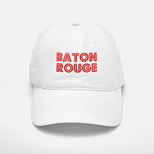 Retro Baton Rouge (Red) Baseball Baseball Cap
