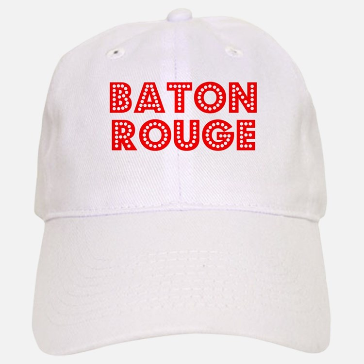 Retro Baton Rouge (Red) Baseball Baseball Cap