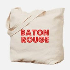 Retro Baton Rouge (Red) Tote Bag