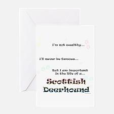 Deerhound Life Greeting Card