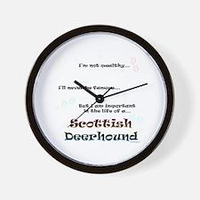 Deerhound Life Wall Clock