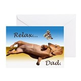 Dachshund fathers day Greeting Cards